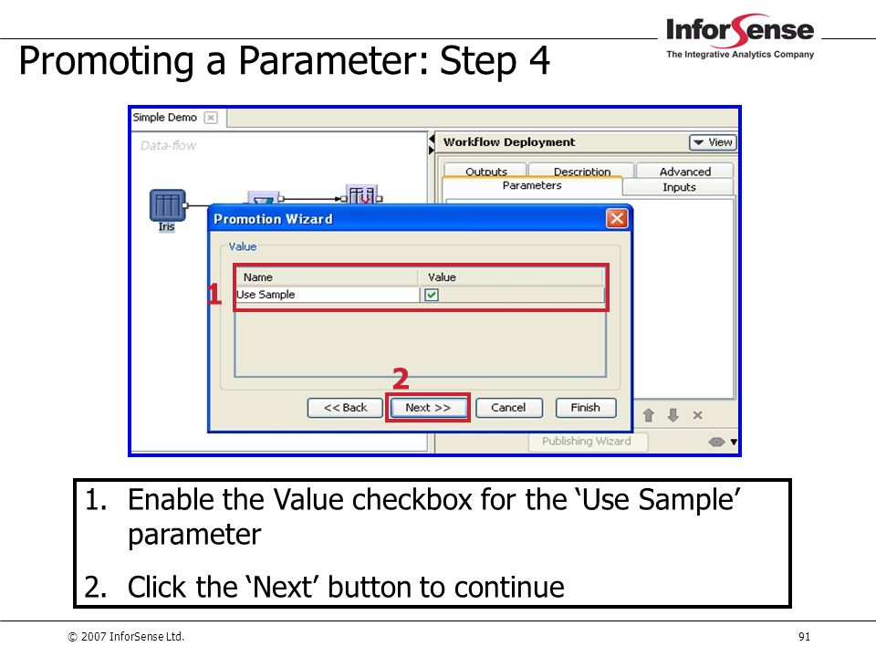Promoting a Parameter: Step 4
