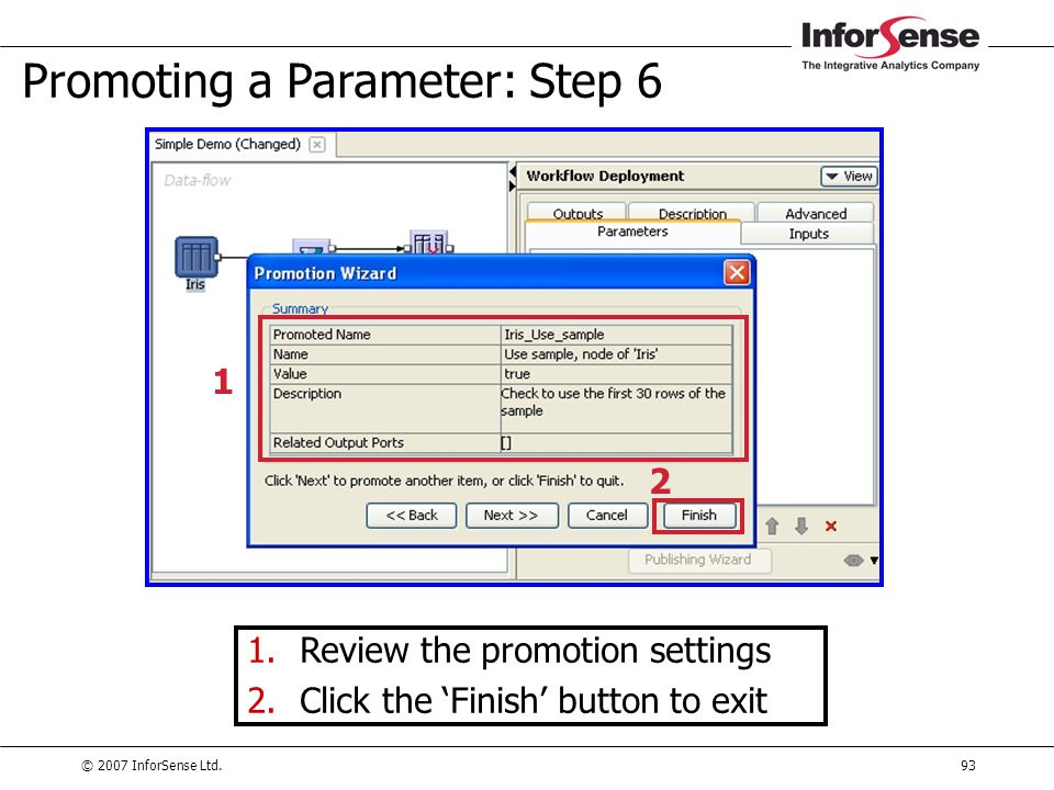 Promoting a Parameter: Step 6