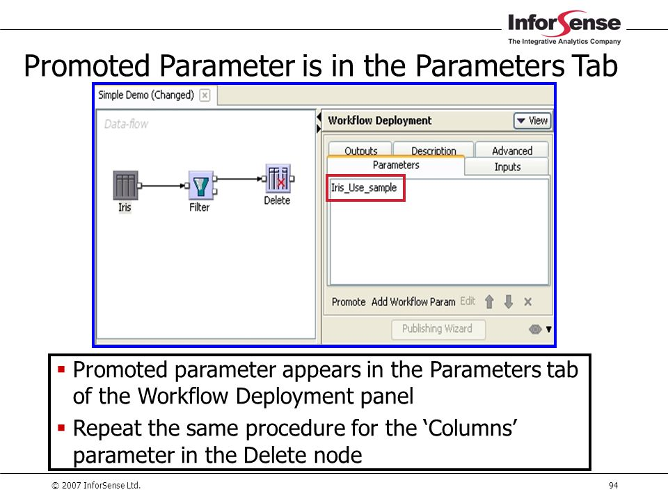 Promoted Parameter is in the Parameters Tab