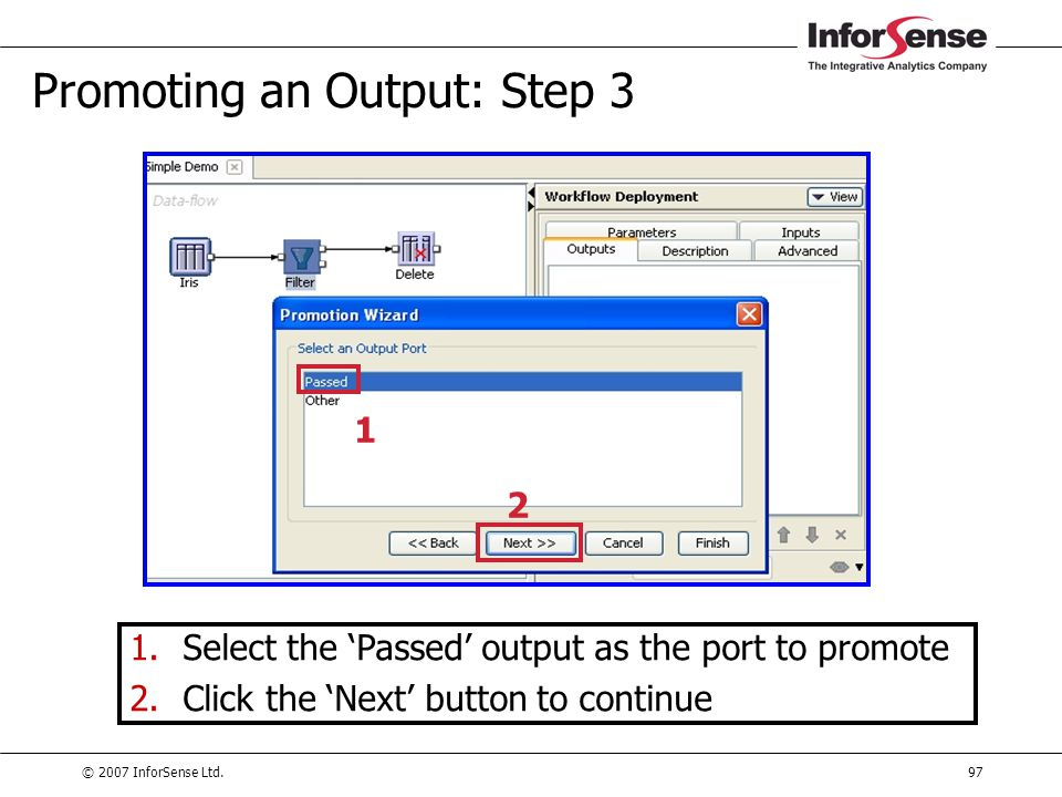 Promoting an Output: Step 3