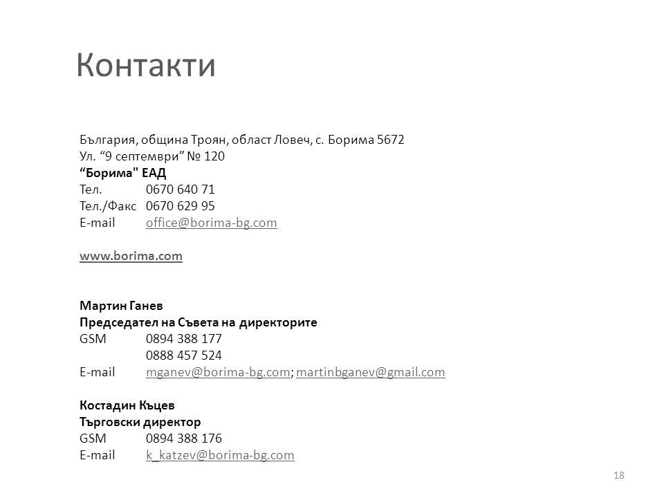 Контакти България, община Троян, област Ловеч, с. Борима 5672
