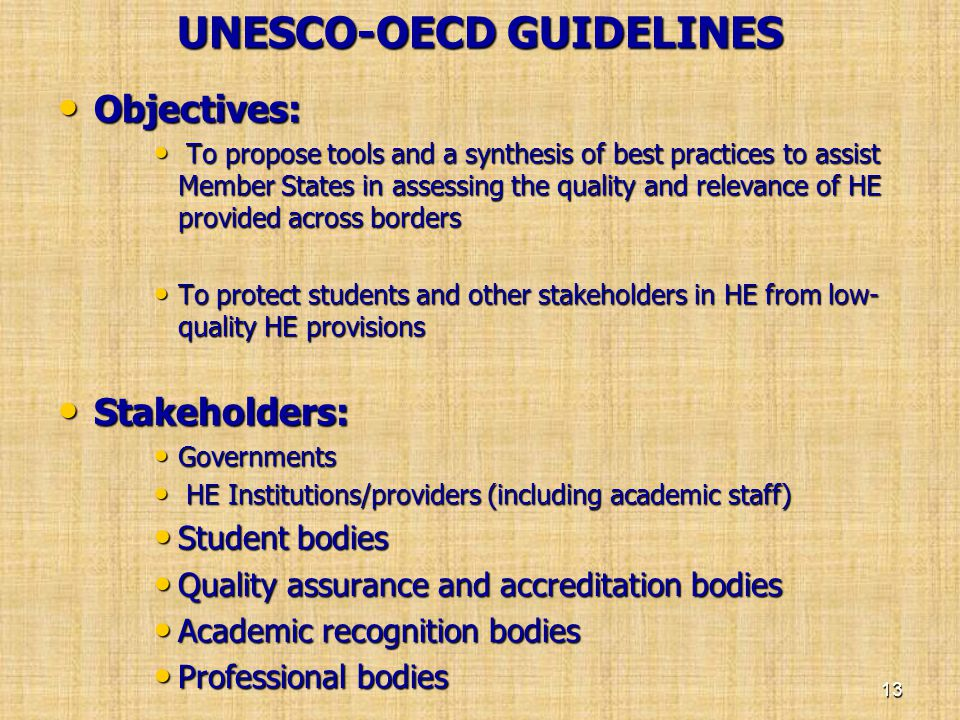 UNESCO-OECD GUIDELINES