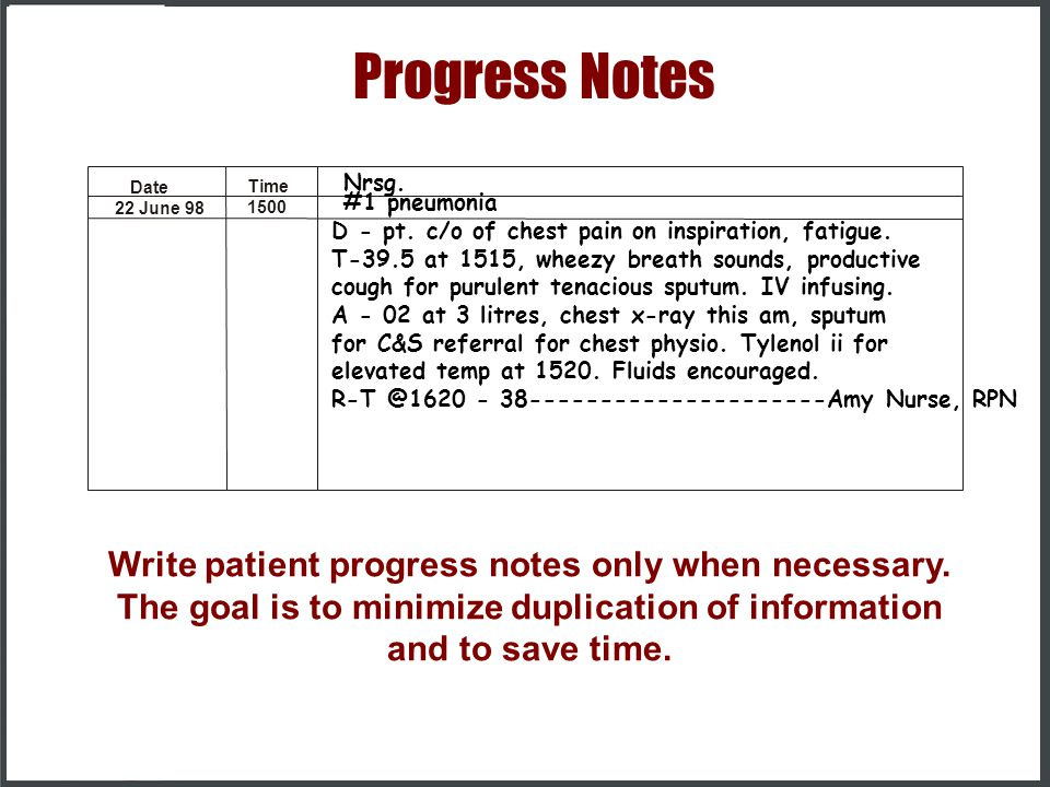 patient progress notes