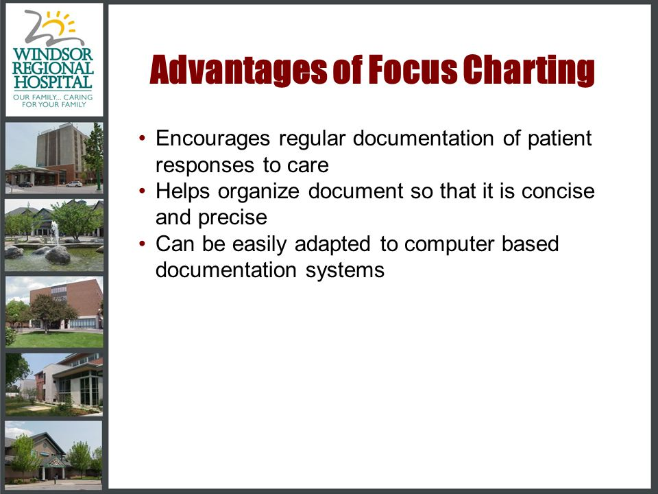 Advantages of Focus Charting