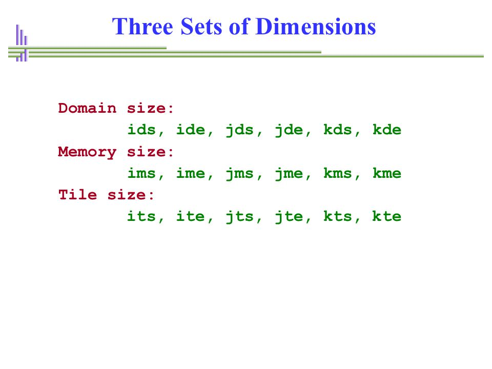 Three Sets of Dimensions