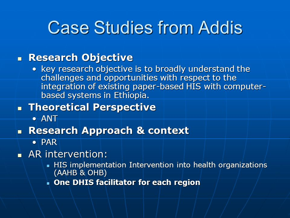 Case Studies from Addis