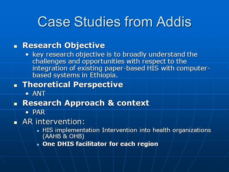 Case Studies from Addis