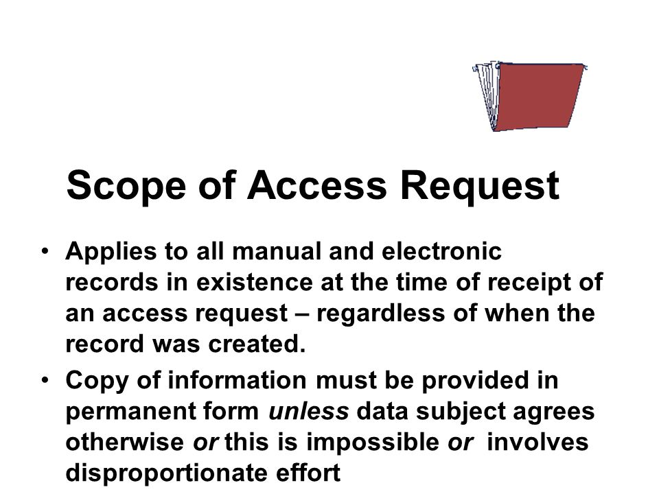 Scope of Access Request