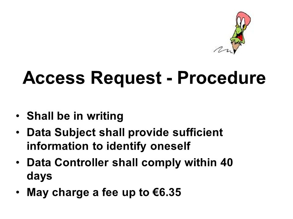 Access Request - Procedure