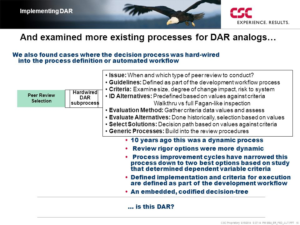 And examined more existing processes for DAR analogs…