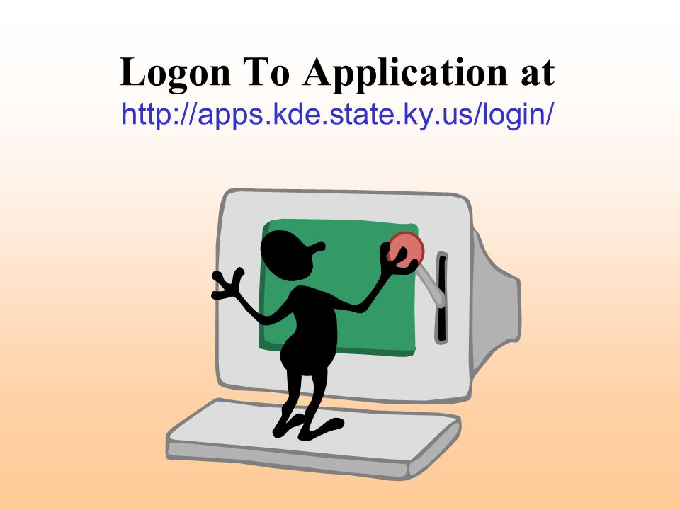 Logon To Application at http://apps.kde.state.ky.us/login/