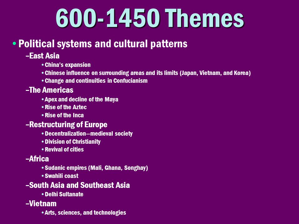 Themes Political systems and cultural patterns East Asia
