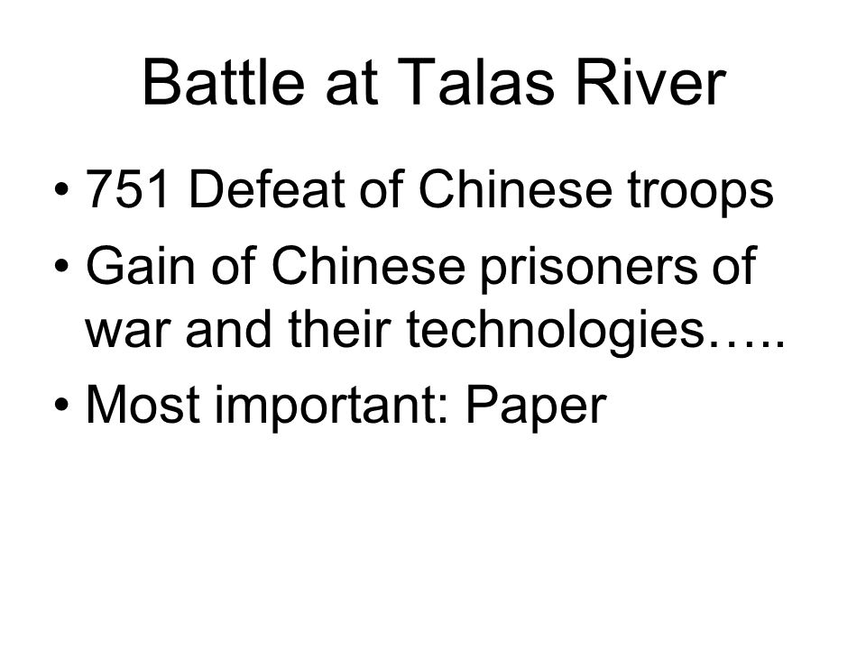 Battle at Talas River 751 Defeat of Chinese troops