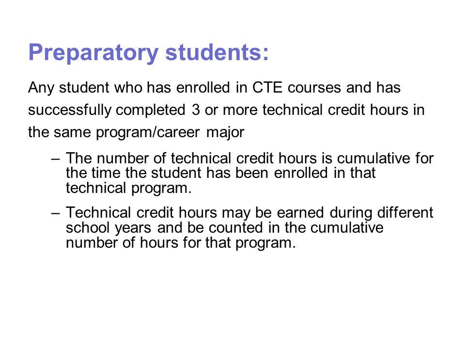 Preparatory students:
