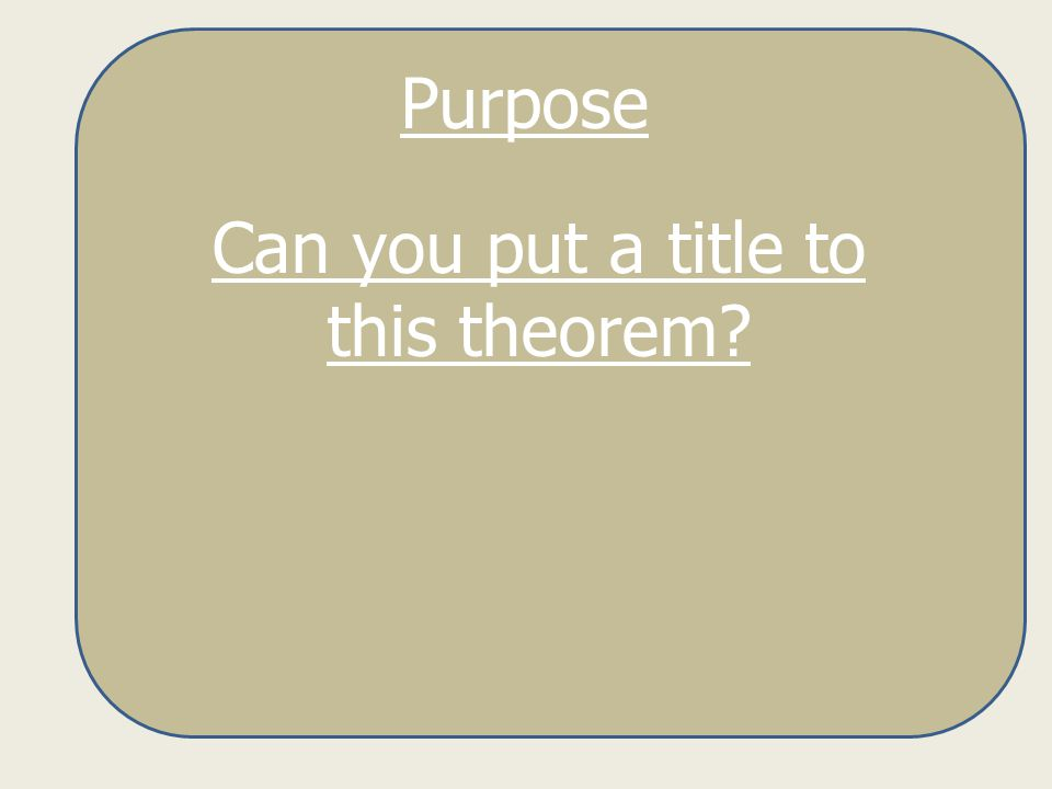 Can you put a title to this theorem