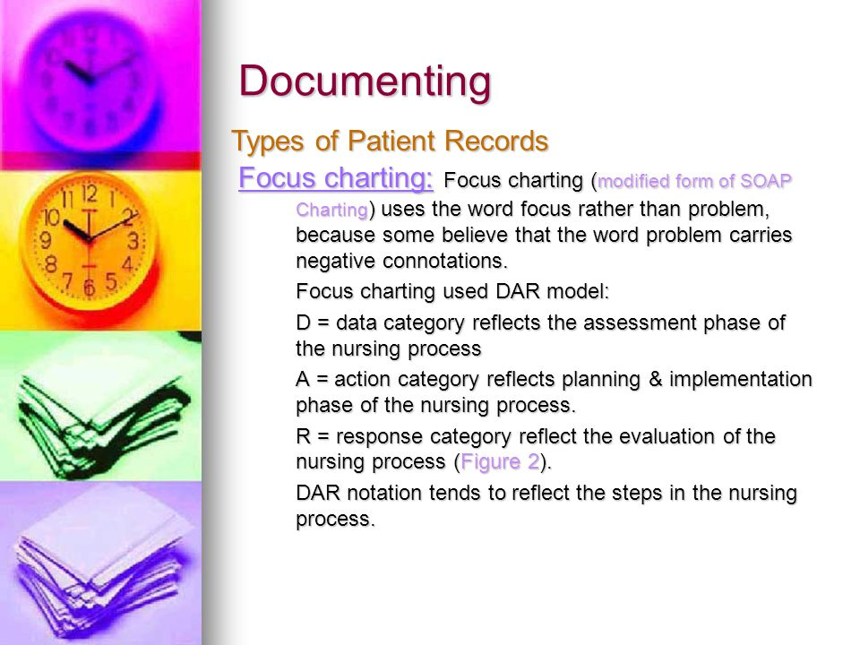 Documenting Types of Patient Records