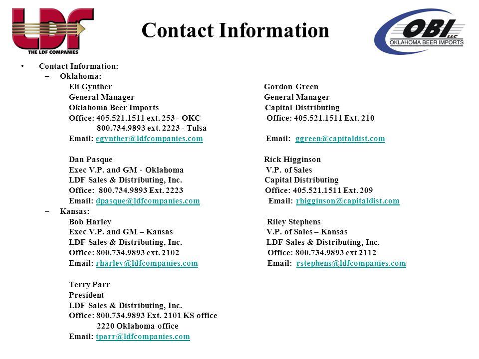 Contact Information Contact Information: Oklahoma: Eli Gynther Gordon Green.