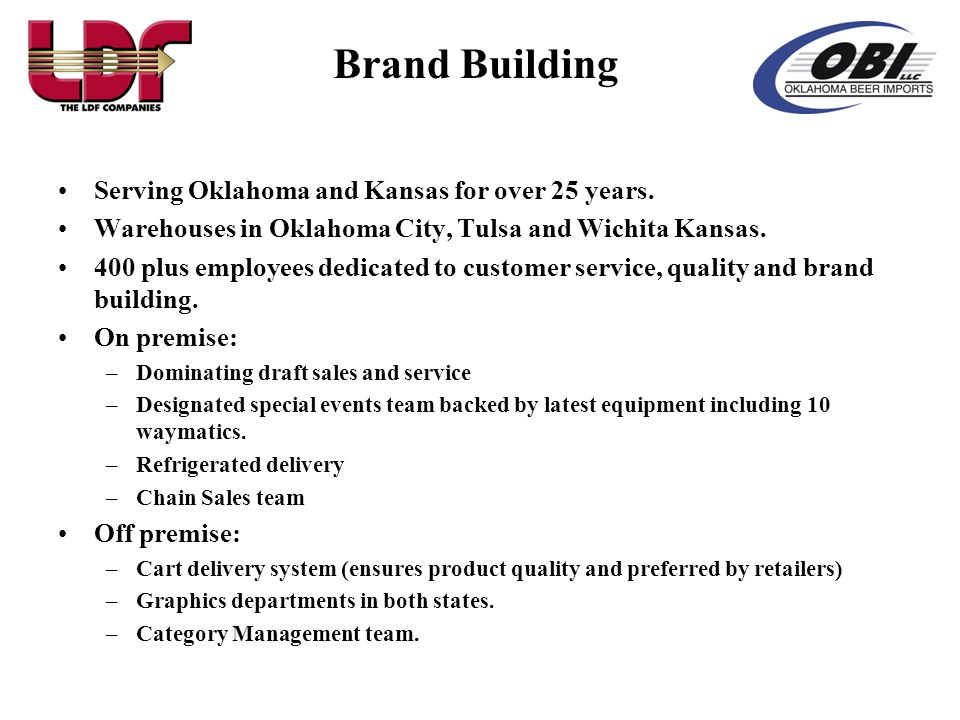 Brand Building Serving Oklahoma and Kansas for over 25 years.