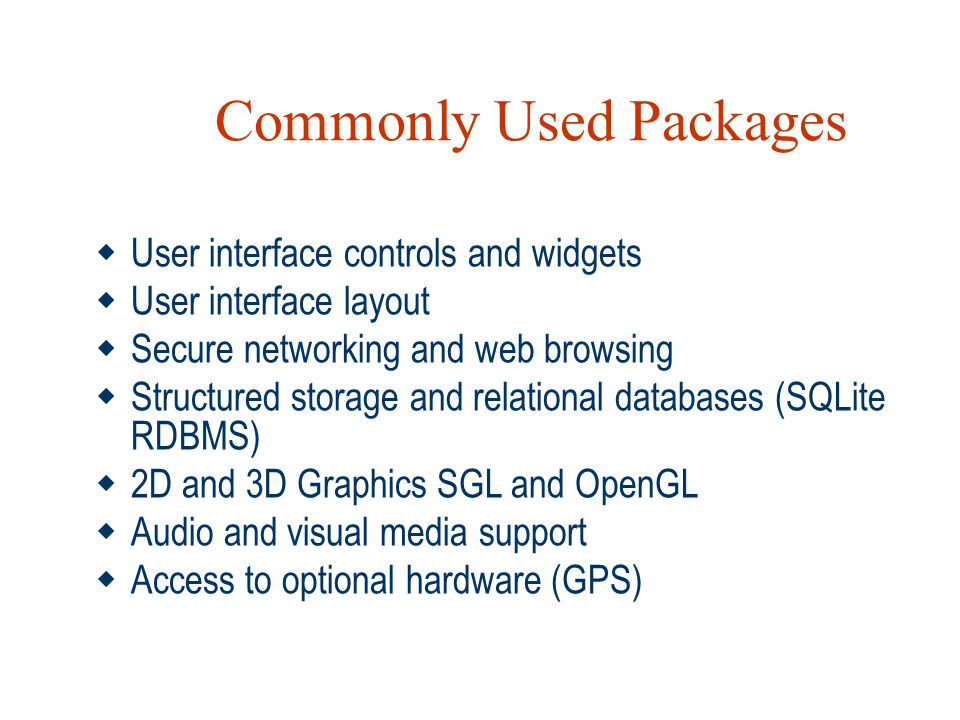 Commonly Used Packages