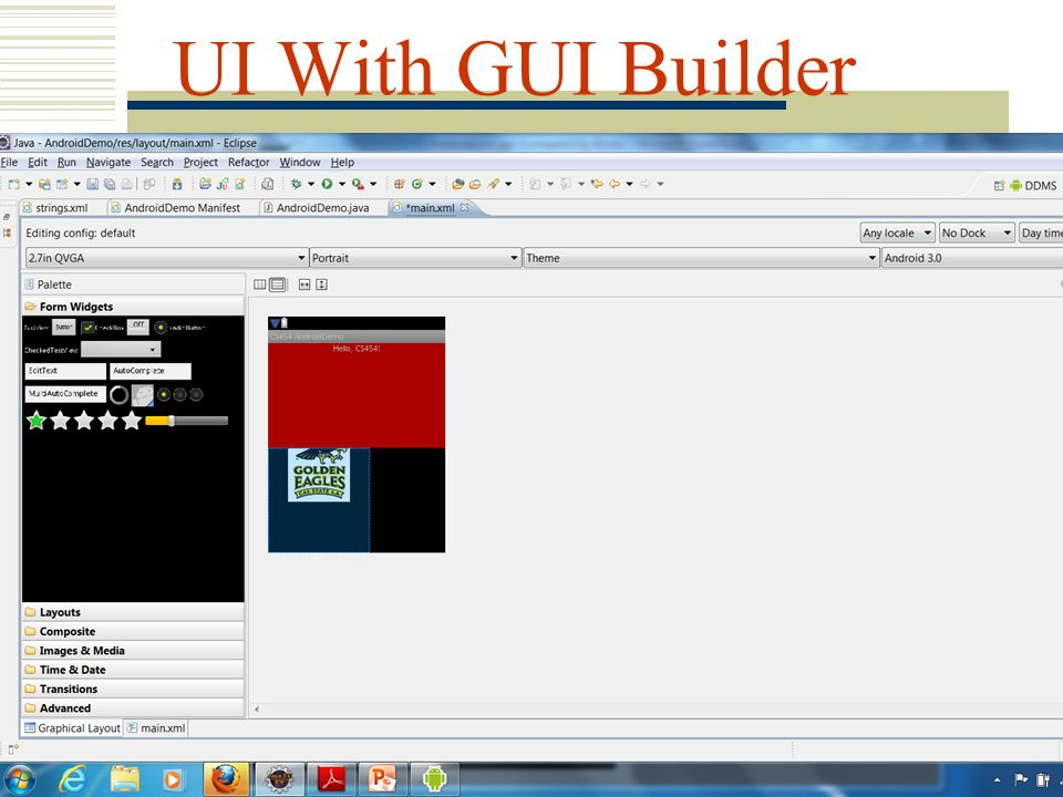 UI With GUI Builder