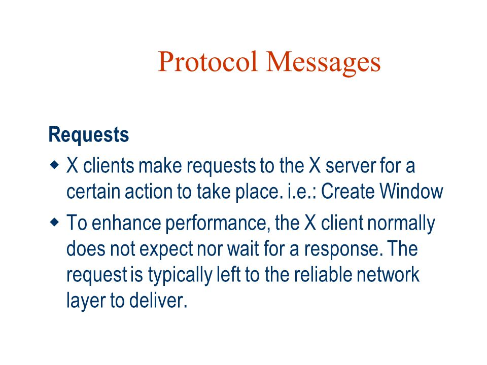 Protocol Messages Requests