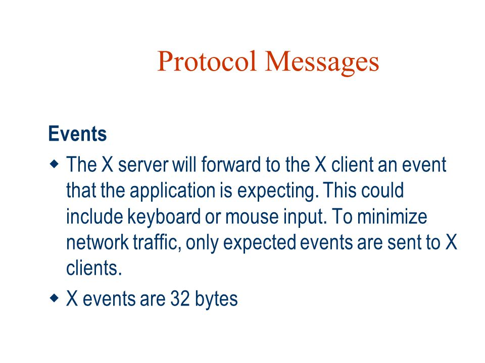Protocol Messages Events
