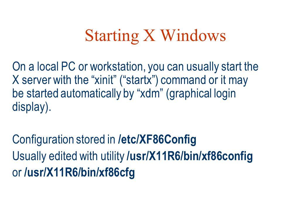 Starting X Windows