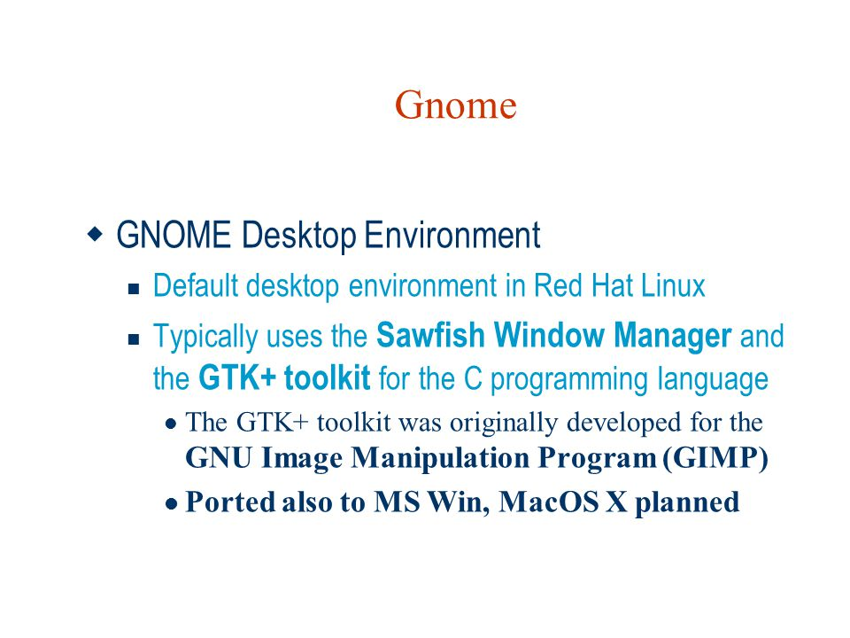 Gnome GNOME Desktop Environment
