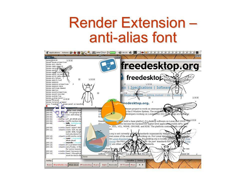 Render Extension – anti-alias font