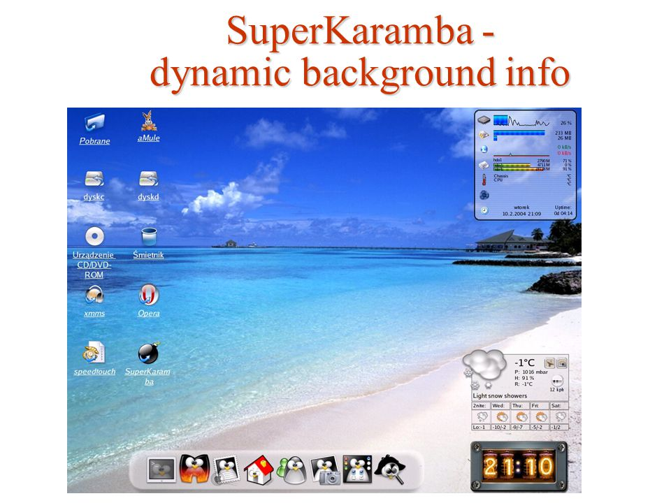 SuperKaramba - dynamic background info
