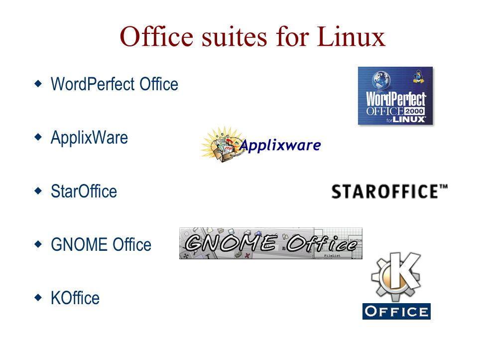 Office suites for Linux