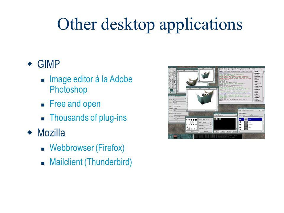 Other desktop applications