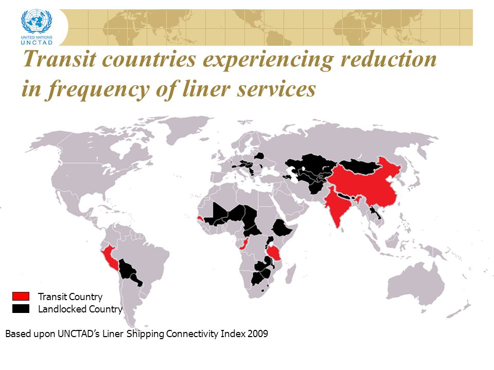 Transit countries experiencing reduction in frequency of liner services