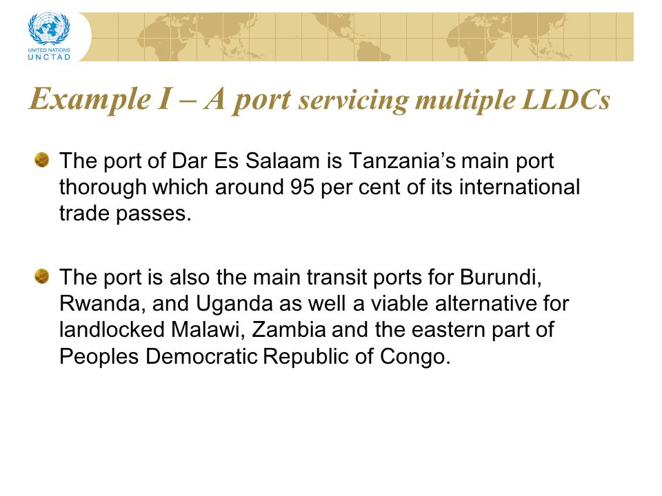 Example I – A port servicing multiple LLDCs