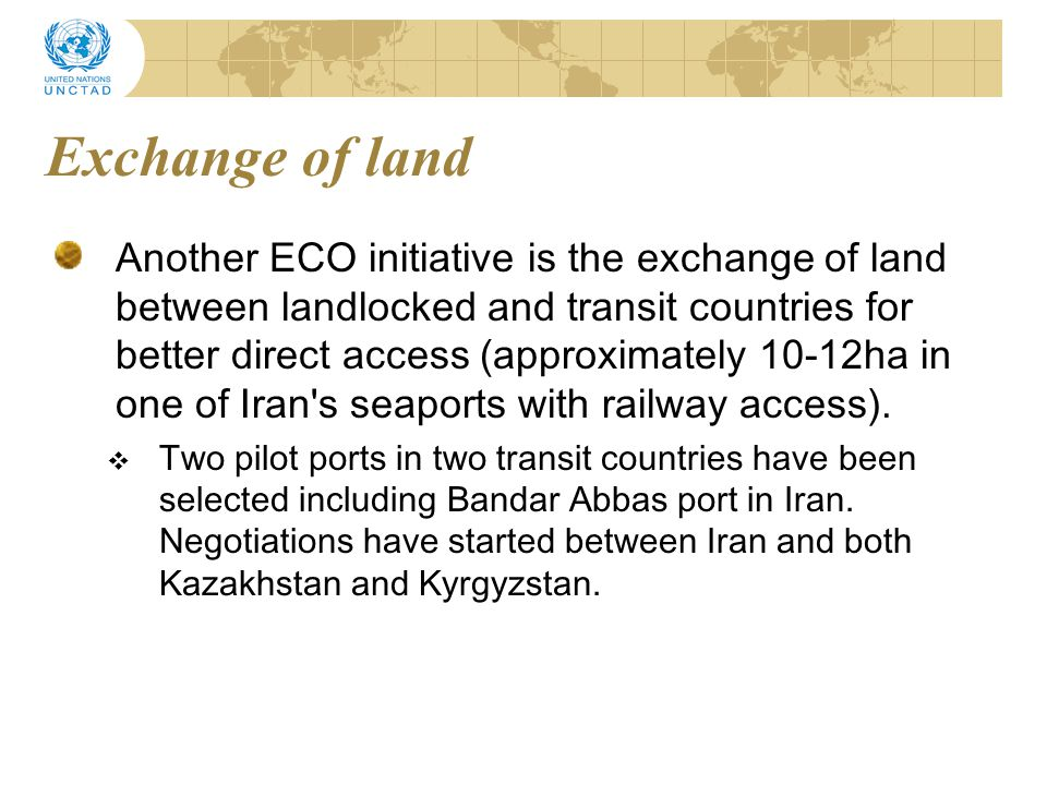 Exchange of land