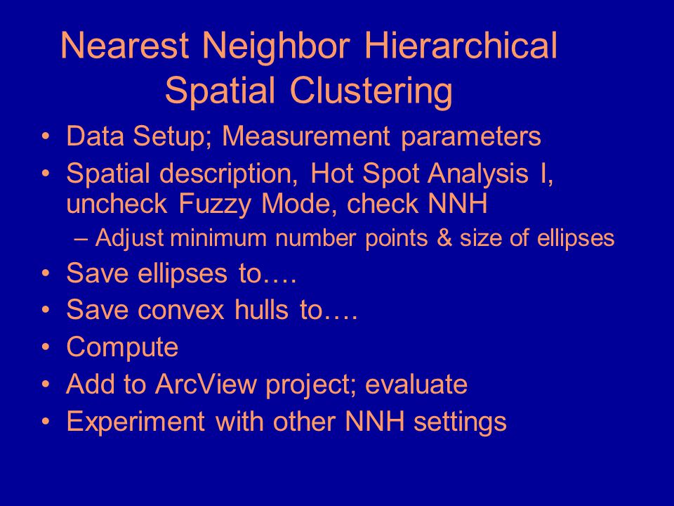 Nearest Neighbor Hierarchical Spatial Clustering