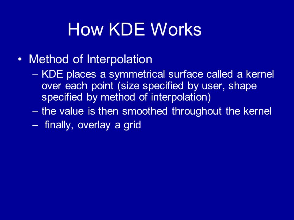 How KDE Works Method of Interpolation