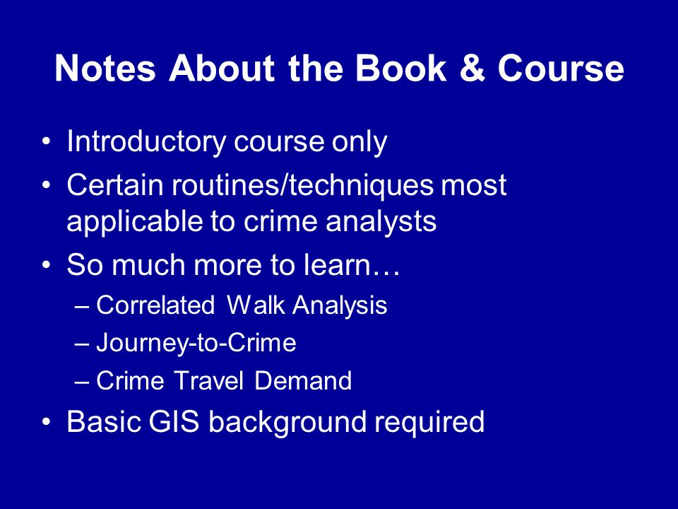 Notes About the Book & Course