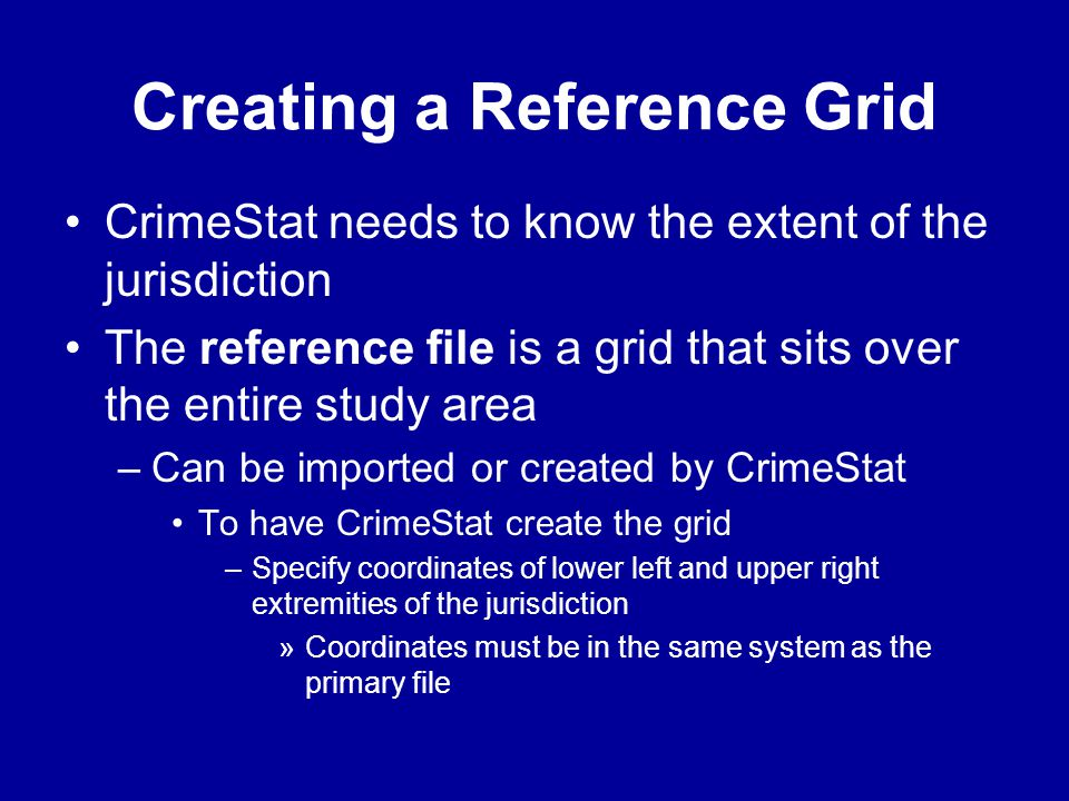 Creating a Reference Grid