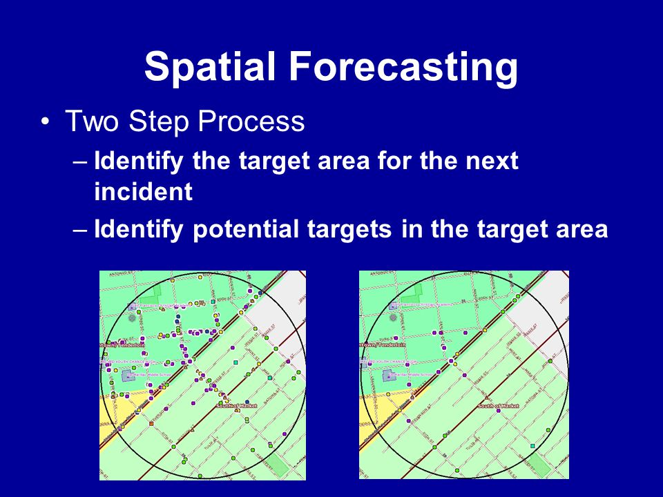 Spatial Forecasting Two Step Process