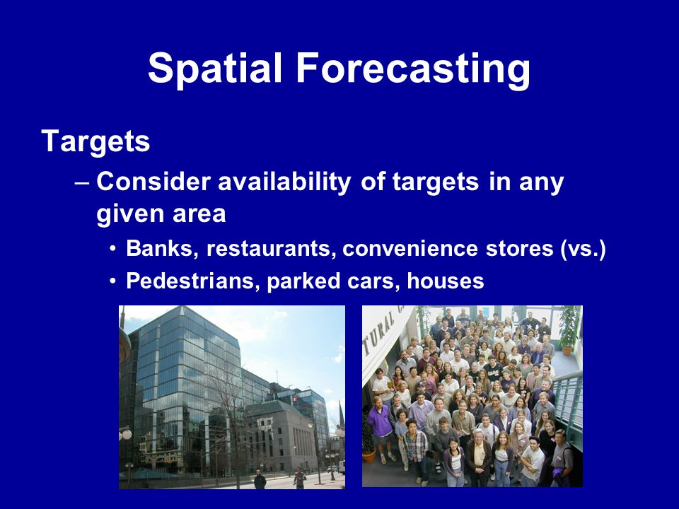 Spatial Forecasting Targets