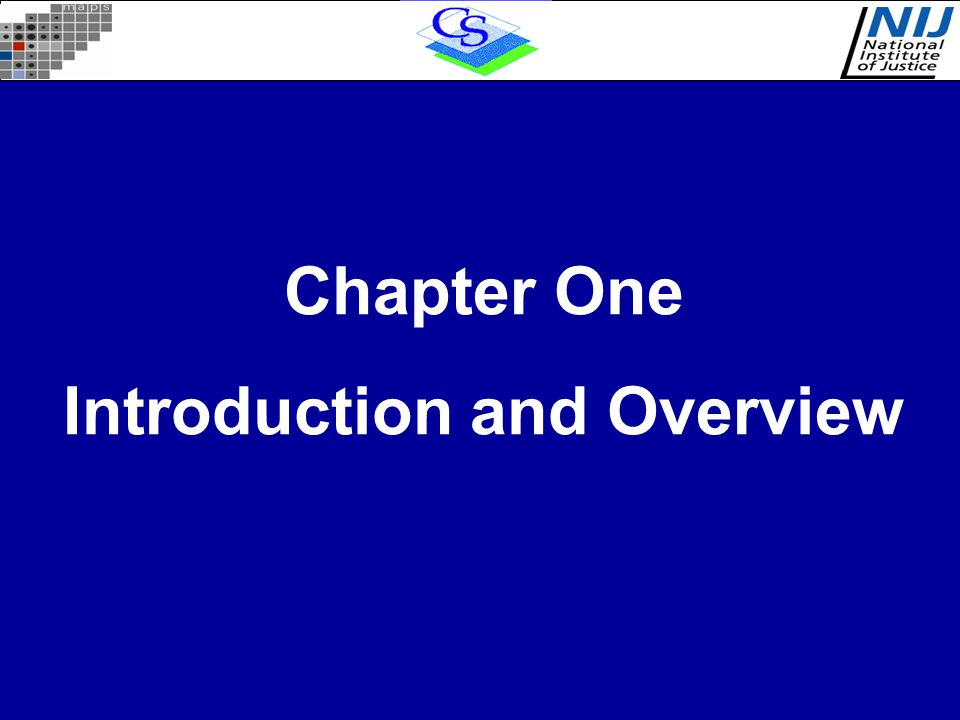 Chapter One Introduction and Overview