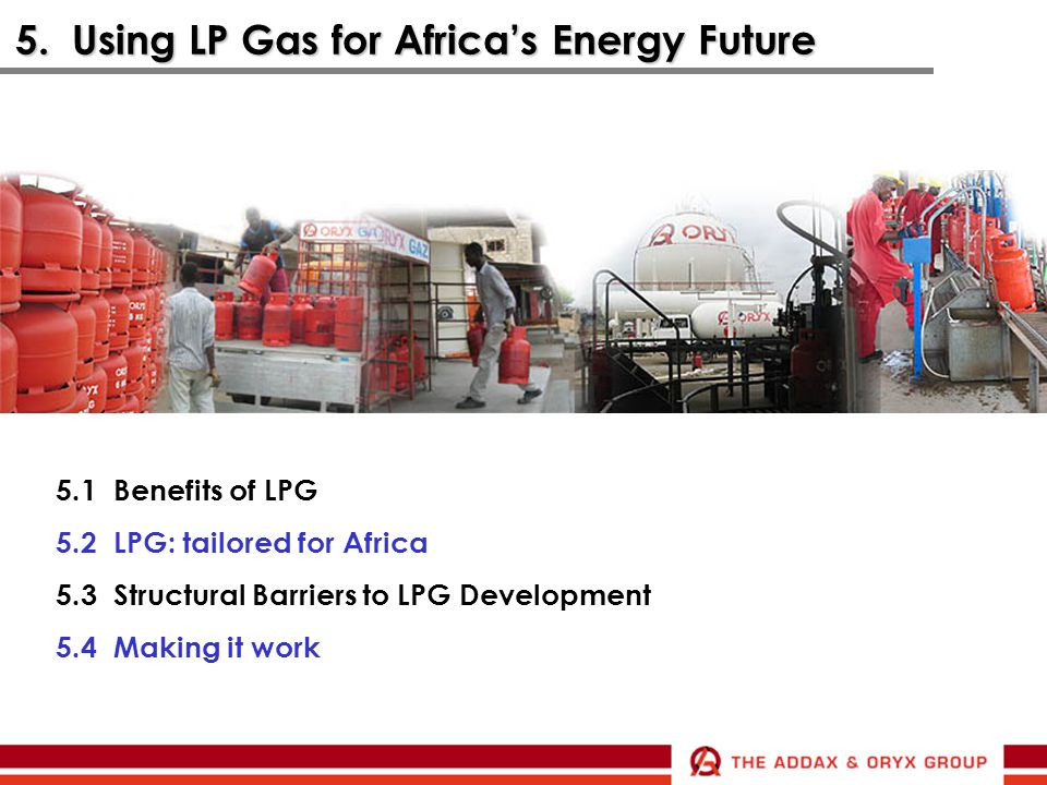 5. Using LP Gas for Africa's Energy Future