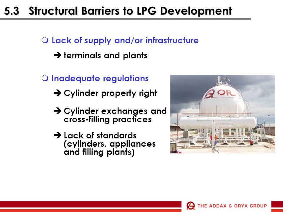 5.3 Structural Barriers to LPG Development