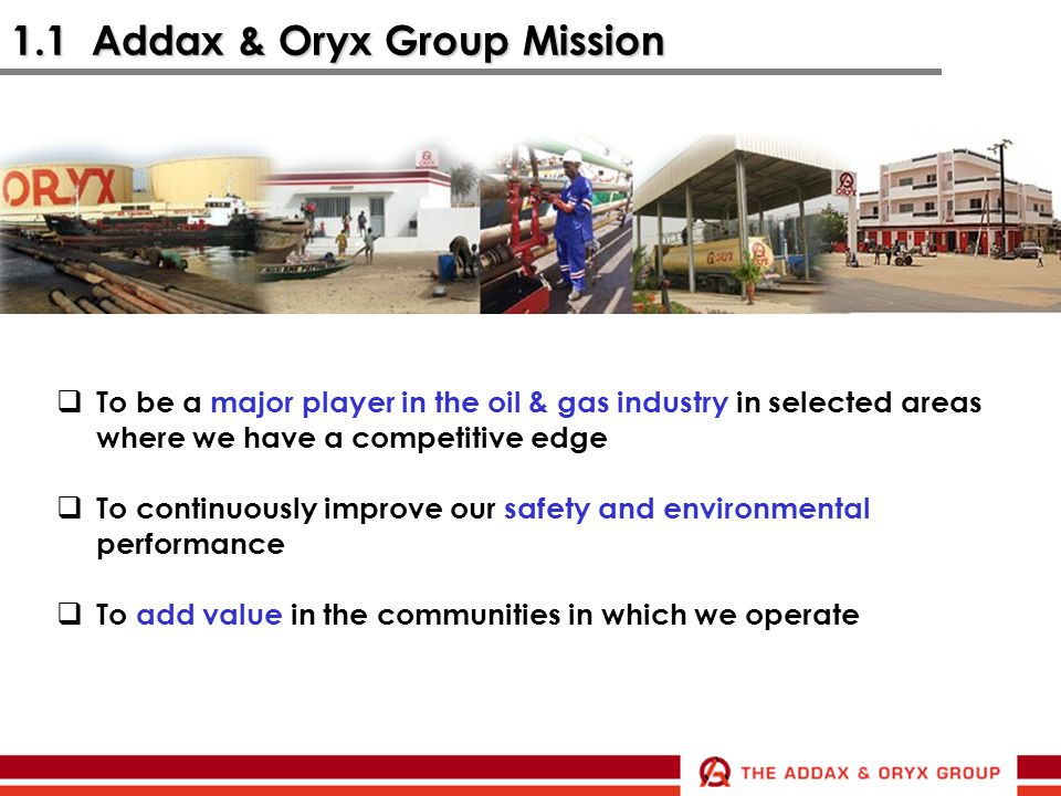 1.1 Addax & Oryx Group Mission