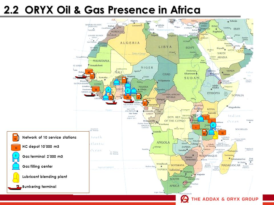2.2 ORYX Oil & Gas Presence in Africa