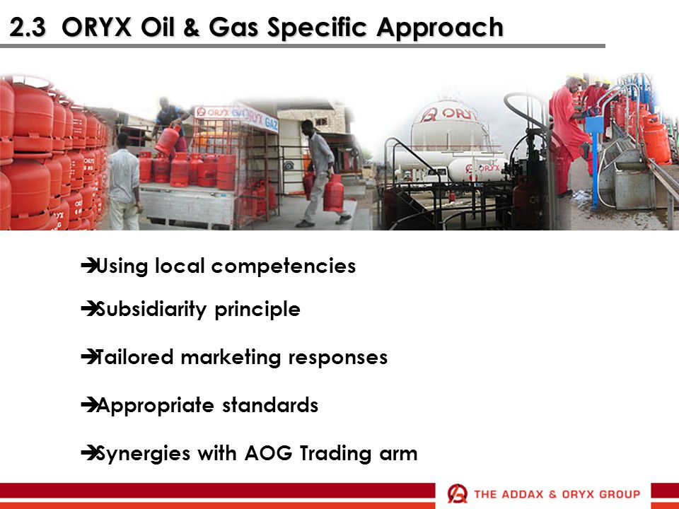 2.3 ORYX Oil & Gas Specific Approach