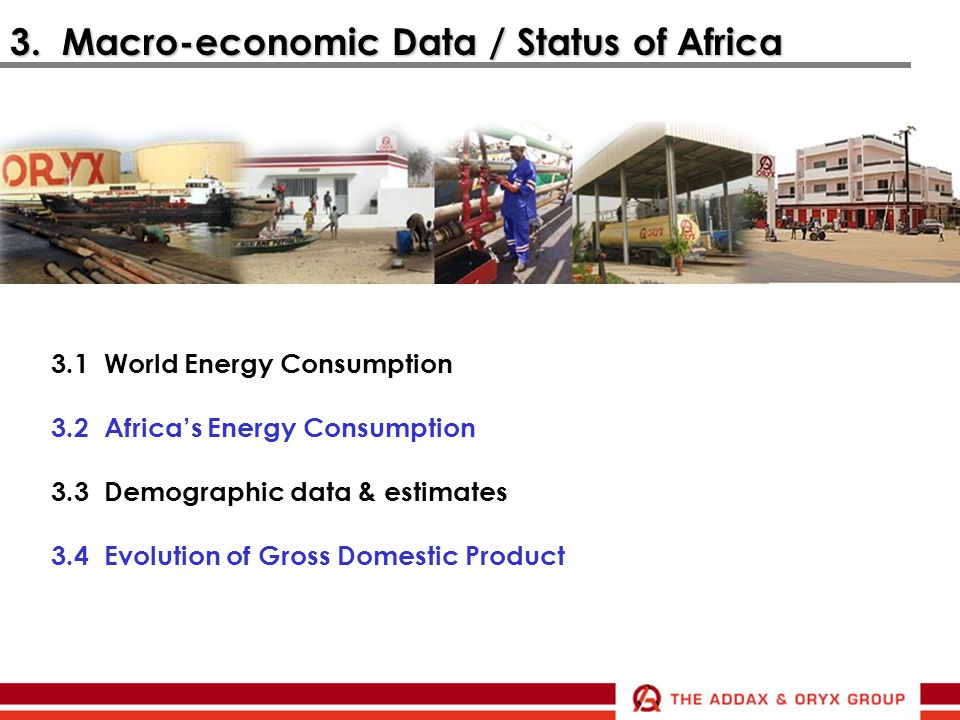 3. Macro-economic Data / Status of Africa