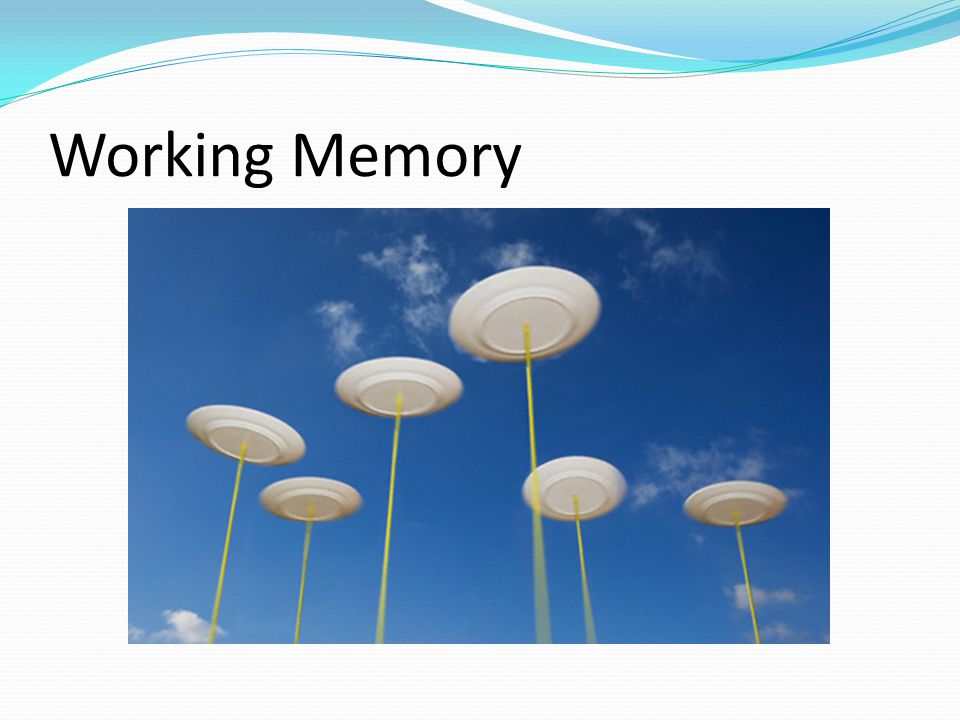 Working Memory Speed, rather than size of items, is the main determining factor for the success of rehearsal – compare this with circus plate spin.