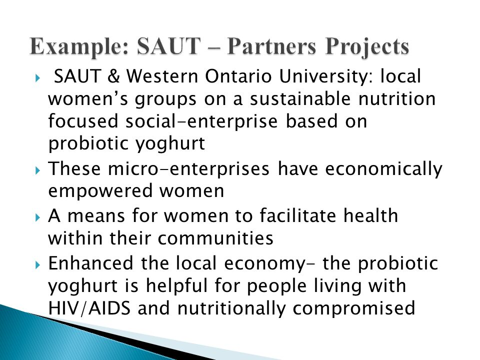 Example: SAUT – Partners Projects